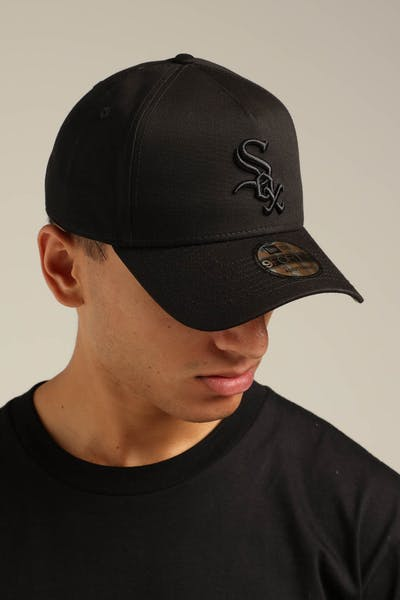 New Era Chicago White Sox 9FORTY A-Frame Snapback Black/Yellow Tartan