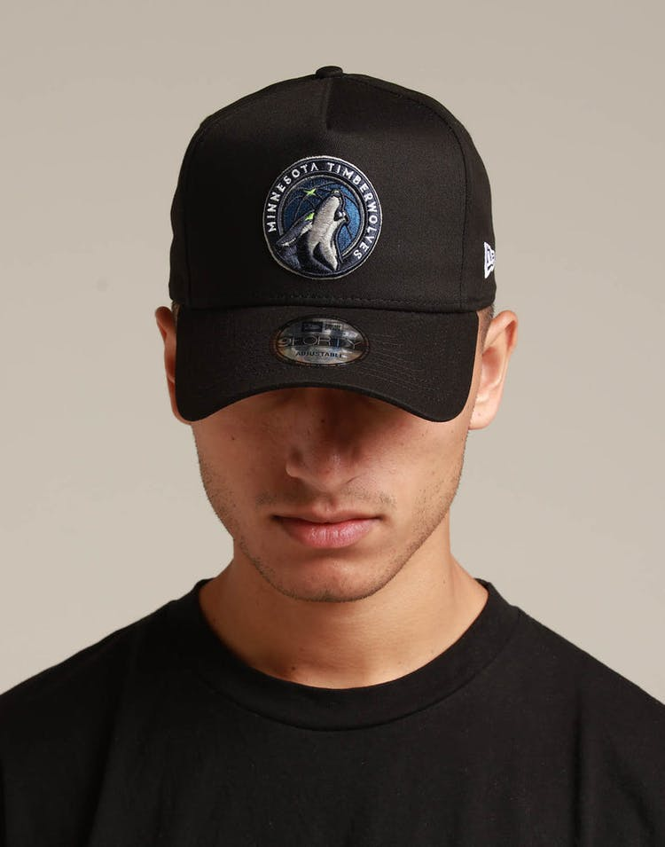 New Era Minnesota Timberwolves 9FORTY K-Frame Snapback Black/OTC
