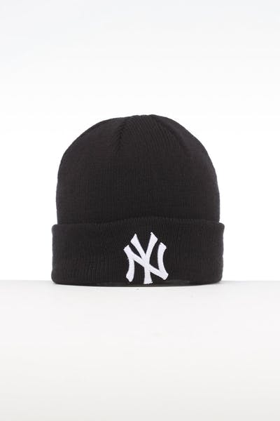 New Era Infant New York Yankees 6 Dart Cuff Beanie Black/White