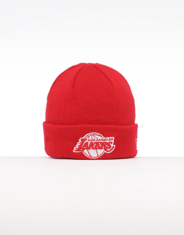 finest selection 51fcc 0b48d New Era Infant Los Angeles Lakers 6 Dart Cuff Beanie Scarlet White –  Culture Kings