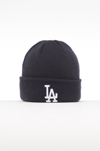 New Era Infant Los Angeles Dodgers 6 Dart Cuff Beanie Navy/White
