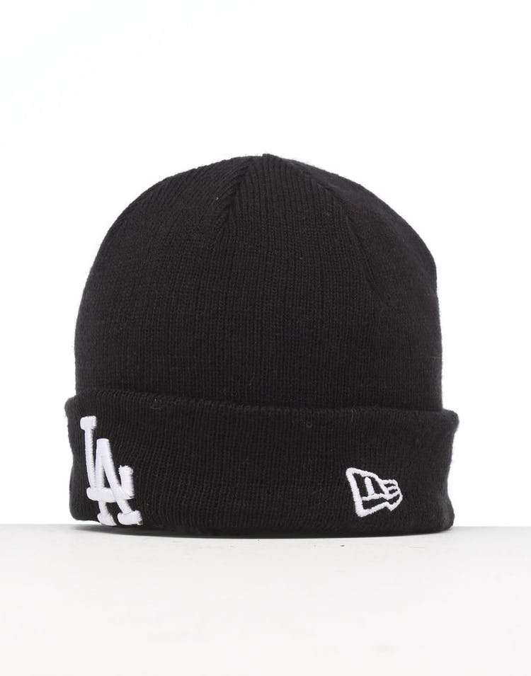 New Era Infant Los Angeles Dodgers 6 Dart Cuff Beanie Black/White
