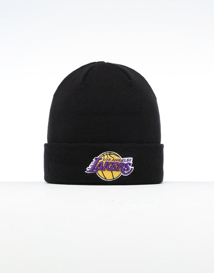 9fb556feaf69cc New Era Los Angeles Lakers 6 Dart Cuff Beanie Black/OTC – Culture Kings