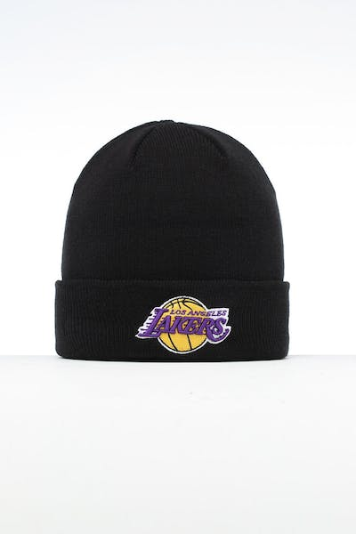 New Era Los Angeles Lakers 6 Dart Cuff Beanie Black/OTC