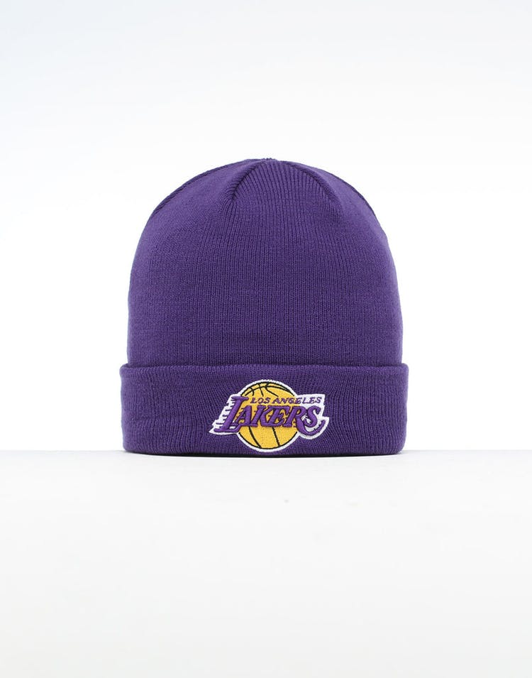 d3ee1ee2816 New Era Los Angeles Lakers 6 Dart Cuff Beanie Purple/OTC – Culture Kings