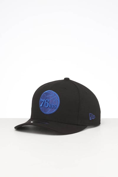 New Era Philadelphia 76ers 9FIFTY Original Fit Precurved Snapback Black
