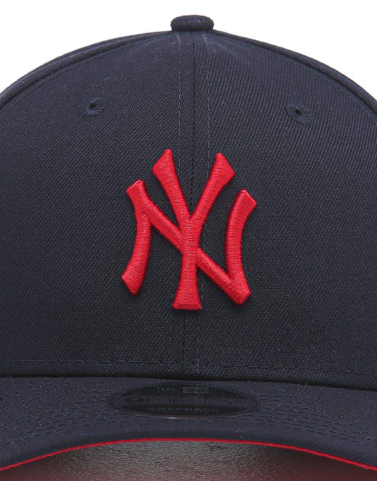 43ad67616 New Era New York Yankees 9FIFTY Original Fit Precurved Snapback Navy/Scarlet