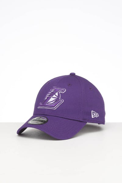 New Era Los Angeles Lakers 9FORTY POP Cloth Strapback Purple
