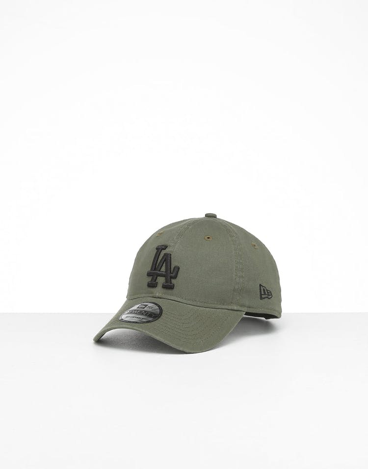 c672a8318 New Era Los Angeles Dodgers 9Twenty Cloth Strapback Washed Olive