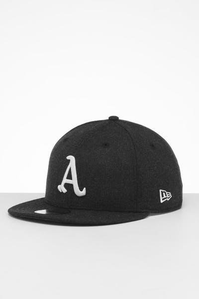 fc58263ecc58f New Era Oakland Athletics 9FIFTY Snapback Black Heather ...
