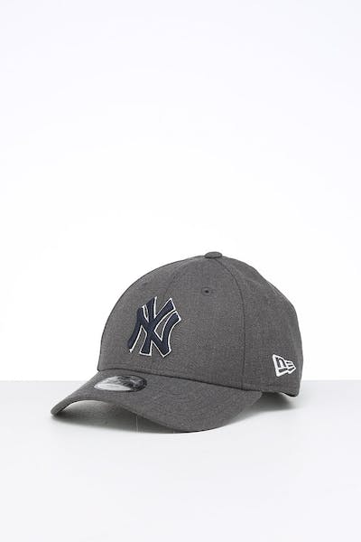 New Era Kids New York Yankees 9FORTY Hook & Loop Heather Graphite