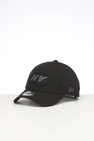 New Era New York Jets 9FORTY Snapback Black Metallic