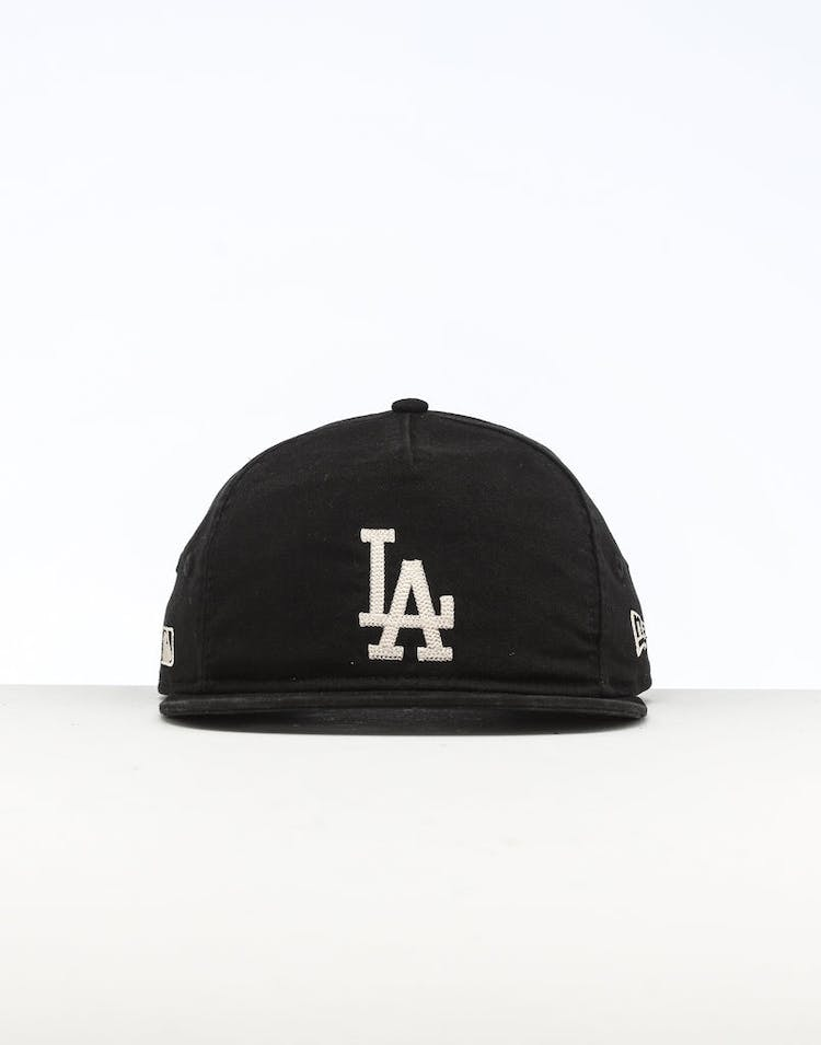 low price 91b4c a2ee6 New Era Los Angeles Dodgers The Old Golfer Chainstitch Snapback Black Ivory