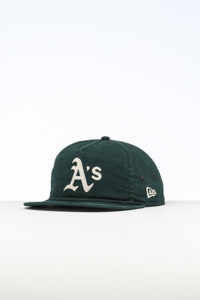 55e51867826a0 New Era Oakland Athletics The Old Golfer Chainstitch Snapback Dark  Green Ivory