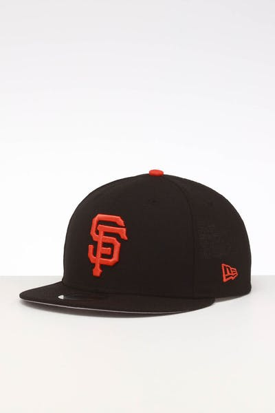 super popular d9e40 d8a87 New Era San Francisco Giants 9FIFTY SWAROVSKI  10 Snapback Black Orange ...