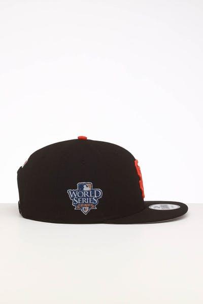 super popular d199d b6f1a New Era San Francisco Giants 9FIFTY SWAROVSKI  10 Snapback Black Orange ...