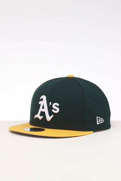 timeless design aea74 f6d7e New Era Oakland Athletics 9FIFTY SWAROVSKI  89 Snapback Green Yellow ...
