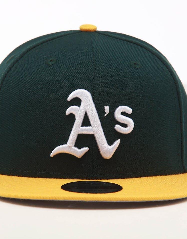 46801ea2f New Era Oakland Athletics 9FIFTY SWAROVSKI '89 Snapback Green/Yellow
