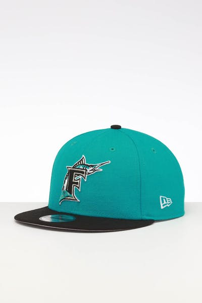New Era Miami Marlins 9FIFTY SWAROVSKI '97 Snapback Teal/Black