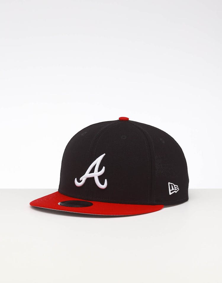 62198504e New Era Atlanta Braves 9FIFTY SWAROVSKI '95 Snapback Navy/OTC