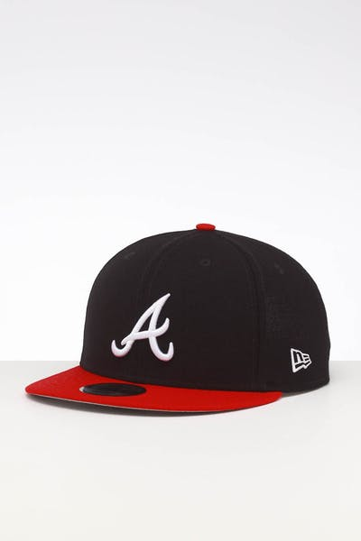 new arrival 93886 8ef59 New Era Atlanta Braves 9FIFTY SWAROVSKI  95 Snapback ...
