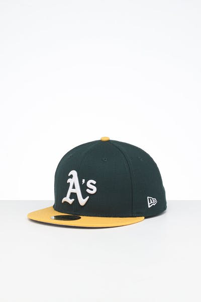 New Era X Swarovski Oakland Athletics '89 59FIFTY Fitted Green/Yellow