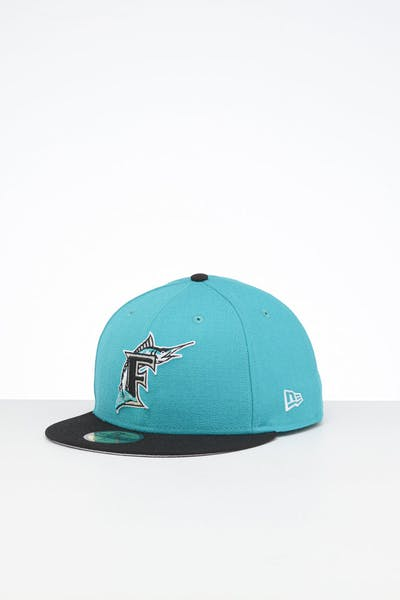 New Era X Swarovski Miami Marlins '97 59FIFTY Fitted Teal/Black