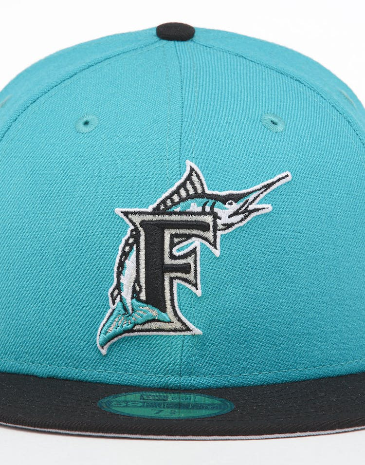 31e9efc03 New Era X Swarovski Miami Marlins '97 59FIFTY Fitted Teal/Black