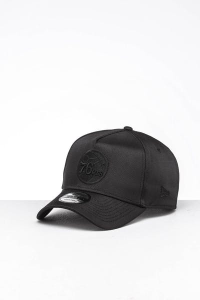 purchase cheap 67602 38f71 New Era Philadelphia 76ers 9FORTY A-Frame Snapback Ballistic Nylon