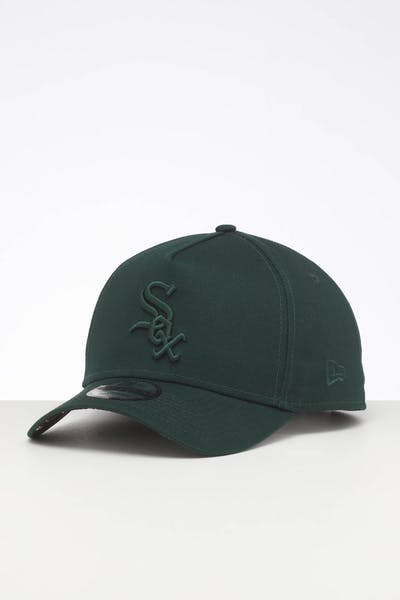 New Era Chicago White Sox 9FORTY A-Frame Snapback Dark Green/Stripe