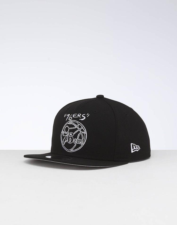6b81d57a New Era Philadelphia 76ers 9FIFTY OF Scribble Snapback Black – Culture Kings
