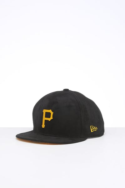 New Era Pittsburgh Pirates 9FIFTY Suede Metal Badge Snapback Black/OTC