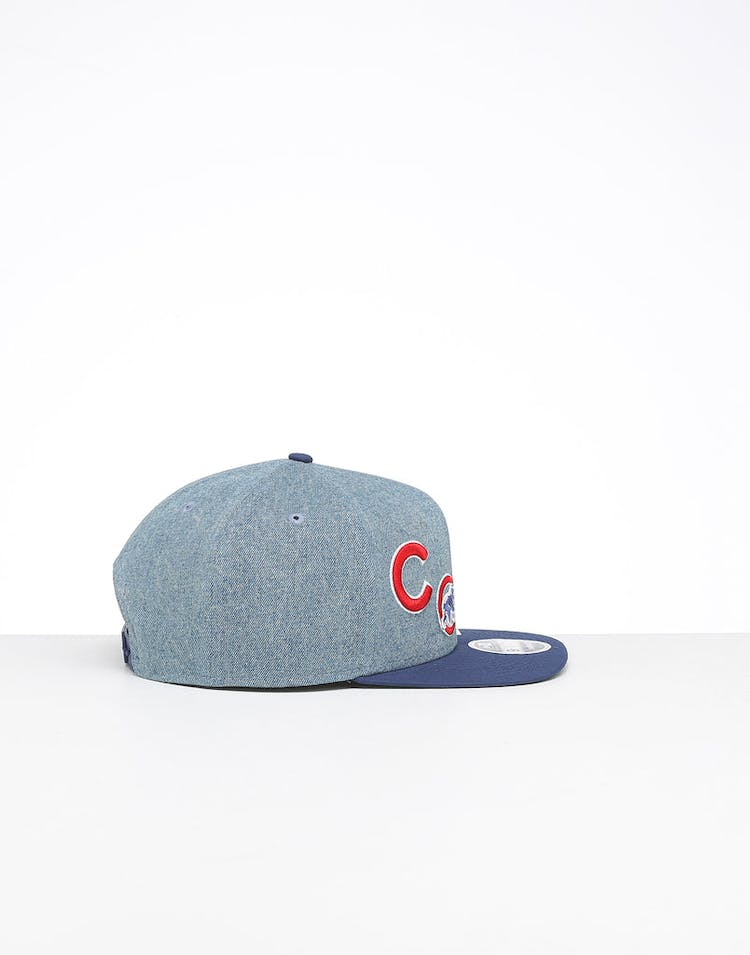53a2e888 New Era Chicago Cubs 9FIFTY Patch High Crown Snapback Denim/OTC