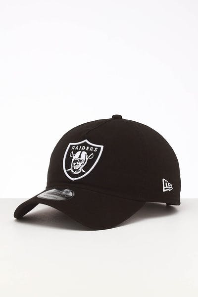 New Era Raiders 9FORTY A-Frame Unstructured Snapback Washed Black/White