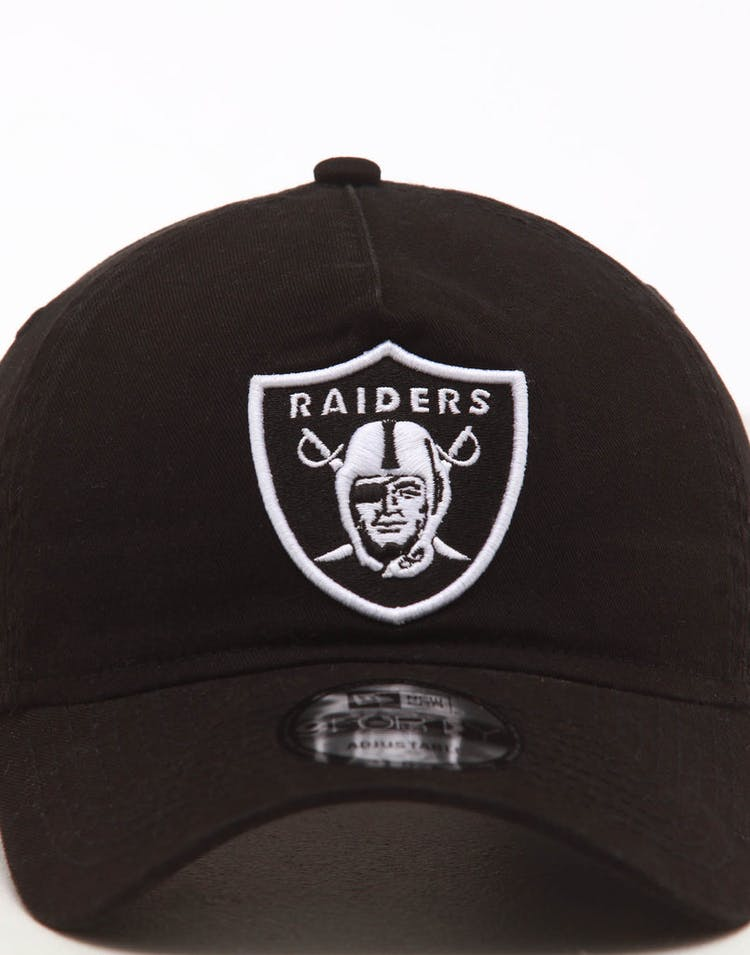 25d5b18b New Era Raiders 9FORTY A-Frame Unstructured Snapback Washed Black/White