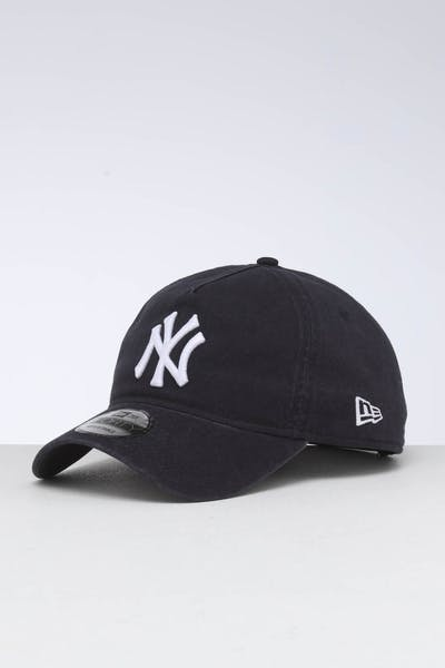 a53b561596c7c6 New Era New York Yankees 9FORTY A-Frame Unstructured Snapback Washed  Navy/White ...