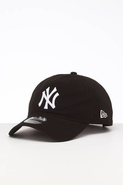 d575f4596f15b6 New Era New York Yankees 9FORTY A-Frame Unstructured Snapback Washed  Black/White ...