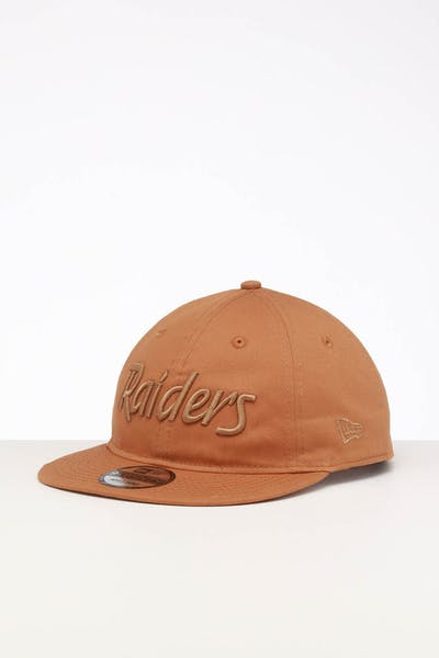 New Era Raiders 9TWENTY FV Script Strapback Wheat/Tonal