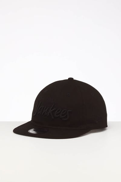 New Era New York Yankees 9TWENTY FV Script Strapback Black/Tonal