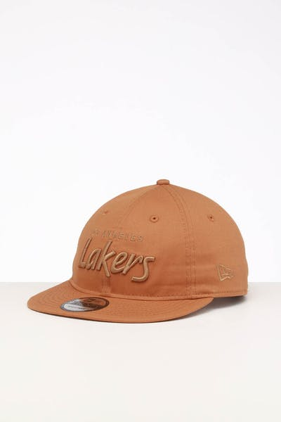 san francisco 6dbc4 37029 New Era Los Angeles Lakers 9TWENTY FV Script Strapback Wheat Tonal ...