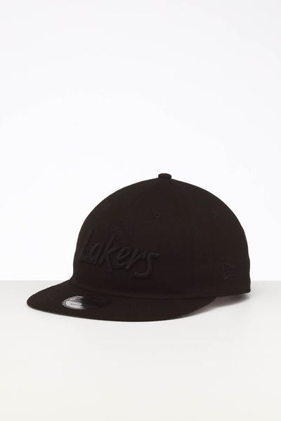 New Era Los Angeles Lakers 9TWENTY FV Script Strapback Black/Tonal