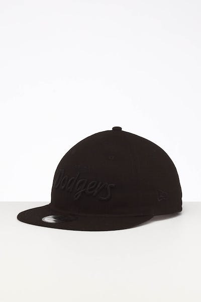 New Era Los Angeles Dodgers 9TWENTY FV Script Strapback Black/Tonal