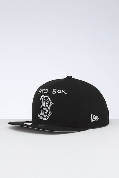 New Era Boston Red Sox 9FIFTY OF Scribble Snapback Black