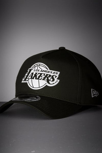 New Era Los Angeles Lakers 9FORTY A-Frame Reflective Logo Snapback Olive/3M