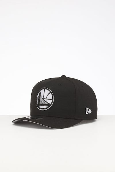 New Era Golden State Warriors 9FIFTY Retro High Crown Precurved Snapback Black