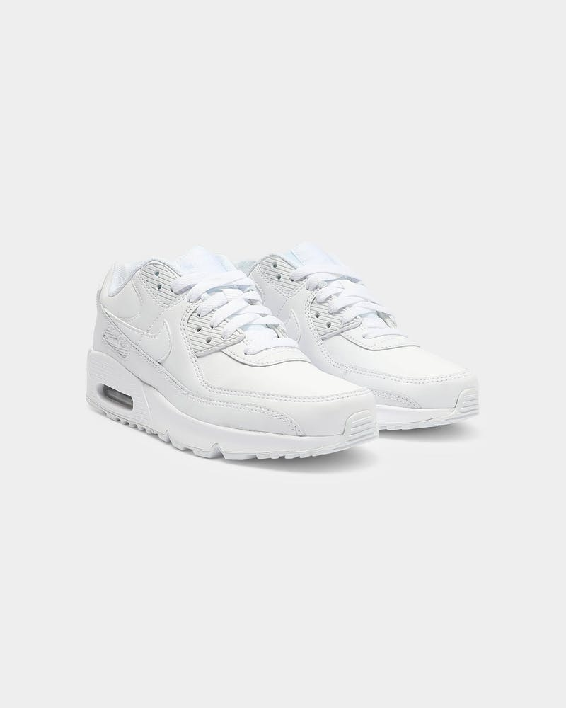 Nike Kids Air Max 90 LTR (GS) White/Silver