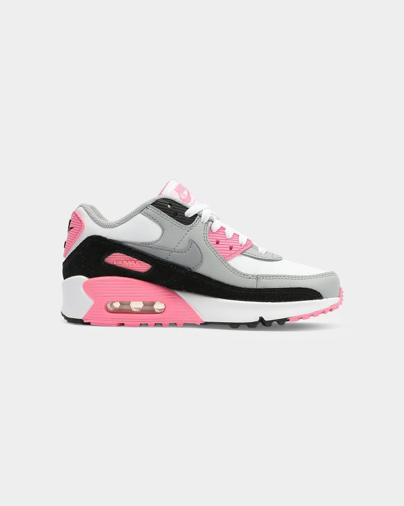 Nike Kids Air Max 90 LTR (GS) White/Grey/Pink