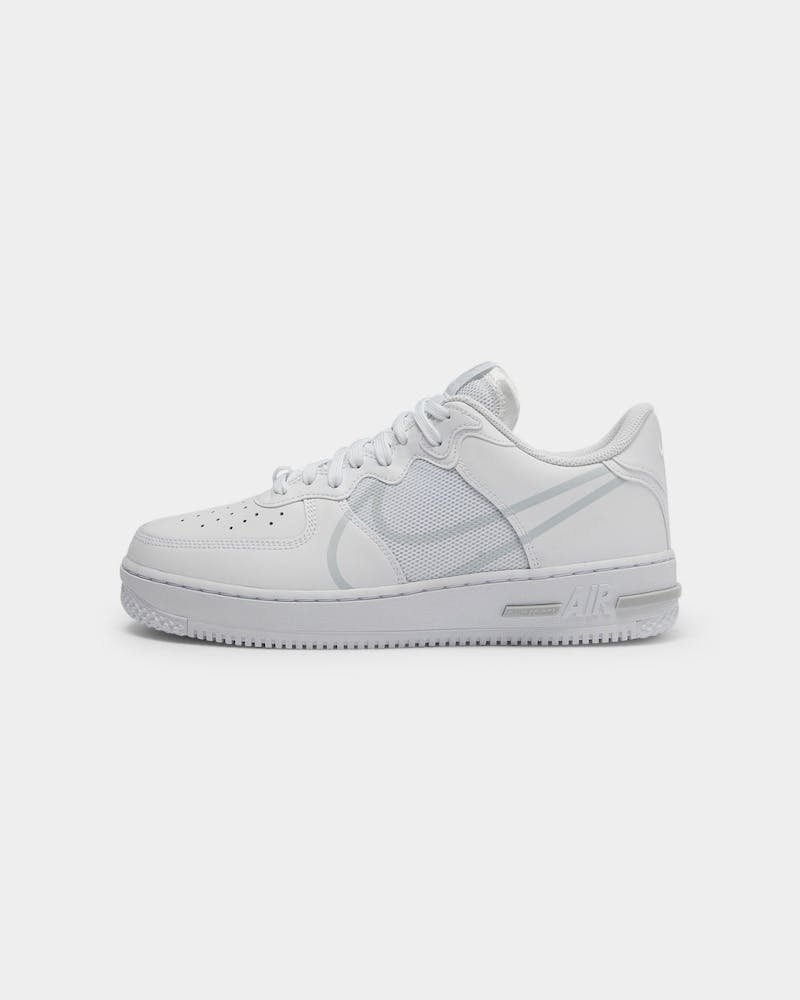 Nike Men's Air Force 1 React White/Platinum