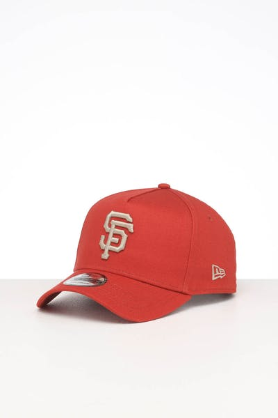 NEW ERA SAN FRANCISCO GIANTS 9FORTY A-FRAME SEASONAL SNAPBACK BURNT ORANGE/STONE