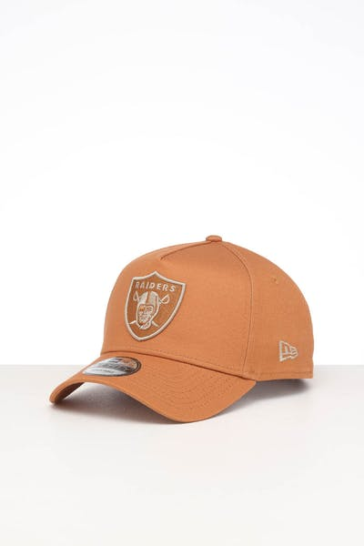 NEW ERA OAKLAND RAIDERS 9FORTY A-FRAME SEASONAL SNAPBACK CARAMEL/STONE